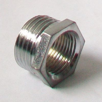 "1/2"" x 3/8"" Chrome Plated Reducing Foundry Bush"